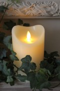 Small Flameless Candle in Ivory (18cm tall)