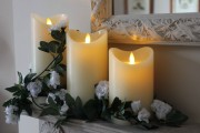 Flameless Candles (medium 21cm tall)